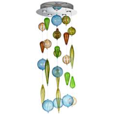 "Spectrum 18"" Wide Multi-Color Glass Ceiling Fixture"