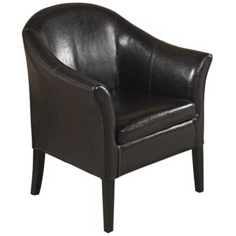 1404 Black Leather Club Chair