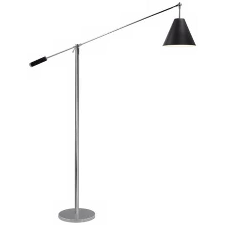 Sonneman Unoluci Black Floor Lamp