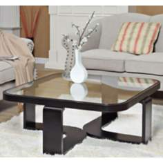 Callum Square Black and Glass Coffee Table