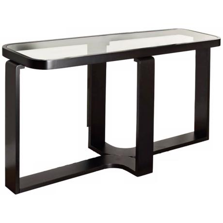 Callum Rectangle Black and Glass Console Table