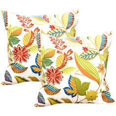 Set of 2 Esprit Floral Outdoor Accent Pillows