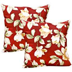 Set of 2 Roma Floral Outdoor Accent Pillows