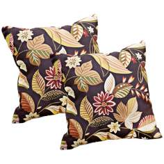 Set of 2 Timberland Floral Outdoor Accent Pillows