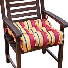 "Carnival Stripe 20"" Square Outdoor Chair Cushion"