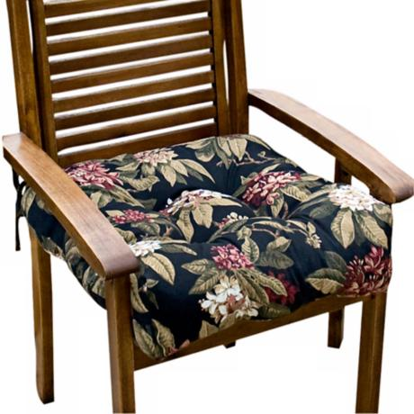 "Midnight Floral 20"" Square Outdoor Chair Cushion"