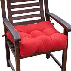 "Salsa Red 20"" Square Outdoor Chair Cushion"