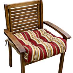 "Roma Stripe 20"" Square Outdoor Chair Cushion"