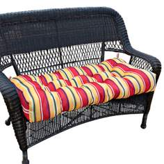 "Carnival Stripe 42"" Wide Outdoor Settee Cushion"
