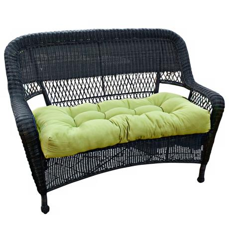 "Kiwi 42"" Wide Green Outdoor Settee Cushion"