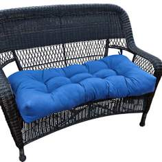 "Marine Blue 42"" Wide Outdoor Settee Cushion"