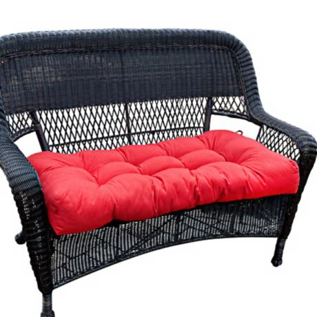 "Salsa Red 42"" Wide Outdoor Settee Cushion"