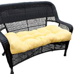 "Sunbeam 42"" Wide Yellow Outdoor Settee Cushion"