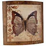 "Butterfly Convex 22"" Wide Outdoor Wall Art"