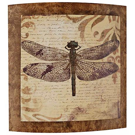 "Dragonfly Convex 22"" Wide Outdoor Wall Art"