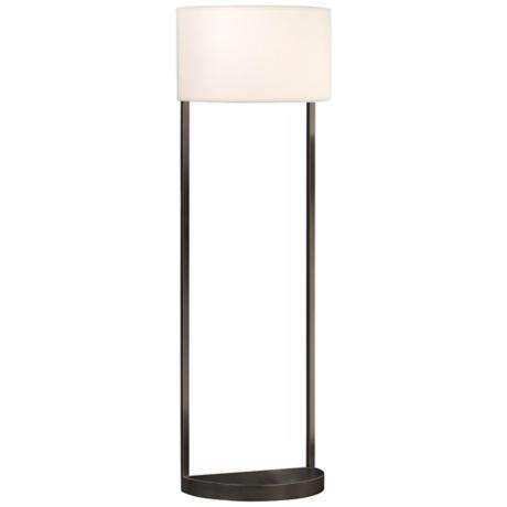 Sonneman Hemi Black Brass Floor Lamp
