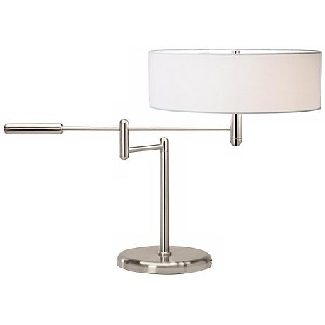 Sonneman Perno Polished Nickel Swing Arm Desk Lamp