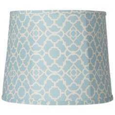 Spa Blue Trellis Softback Shade 12x14x11 (Spider)