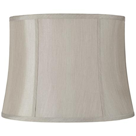 Round Softback Gray Lamp Shade 14x16x12 (Spider)