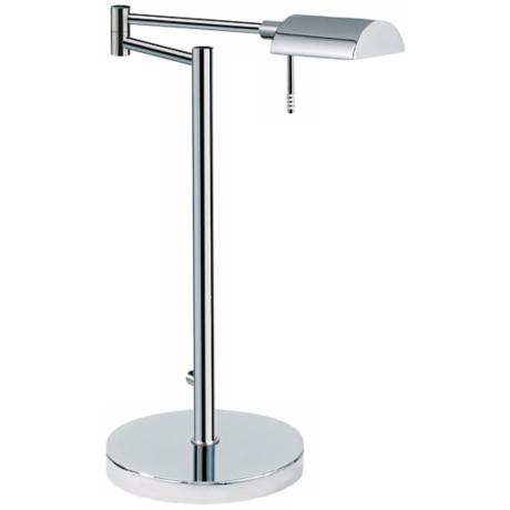 Sonneman D-Lite Polished Chrome Swing Arm Desk Lamp