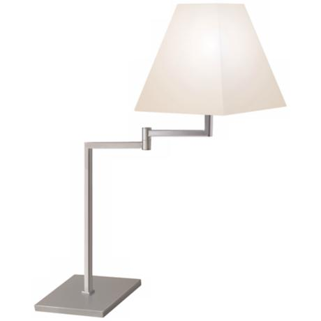Sonneman Square Satin Nickel Swing Arm Desk Lamp