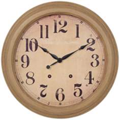 "Antique Dial 18"" Round Decorative Wall Clock"