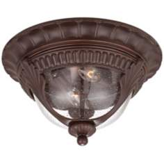 "Kent Place 13"" Wide Bronze Outdoor Ceiling Light"