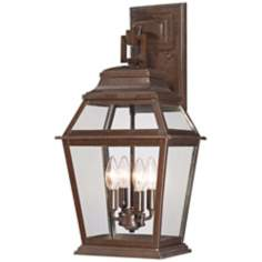 "Crossroads Point 23 1/2"" High Bronze Outdoor Wall Light"