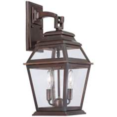"Crossroads Point 19 1/4"" High Bronze Outdoor Wall Light"