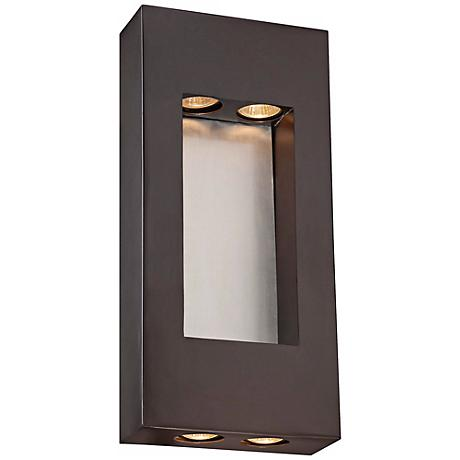 "Minka Geox 17 1/4"" High Bronze Outdoor Pocket Light"