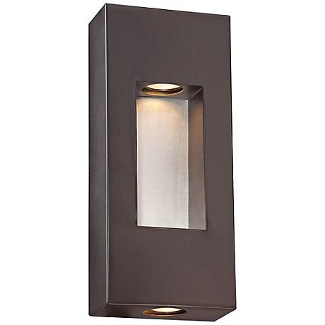 "Minka Geox 14"" High Bronze Outdoor Pocket Light"
