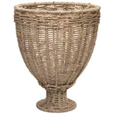 Jamie Young Large Natural Jute Urn