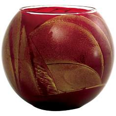 "Esque™ 4"" Cranberry Candle Globe with Gift Box"