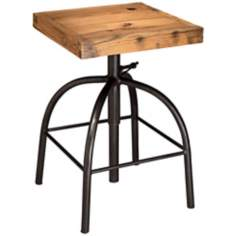 Jamie Young Americana Metal and Wood Stool