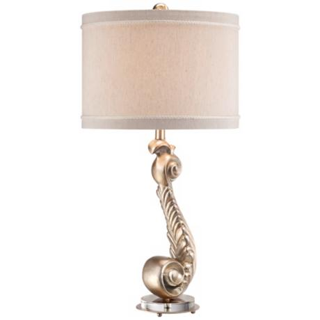 Possini Scroll Silver Leaf Table Lamp