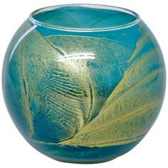 "Esque™ 4"" Turquoise Candle Globe with Gift Box"