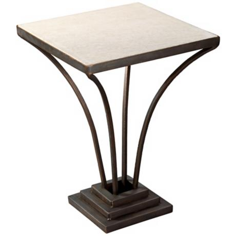 Jamie Young LaBelle White Marble Side Table