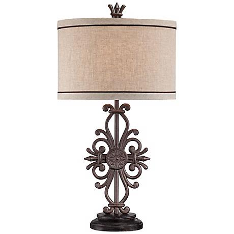 Cast Iron Medallion Table Lamp