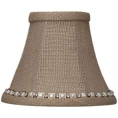 Taupe Burlap Jewel Trim Shade 3x6x5 (Clip-On)