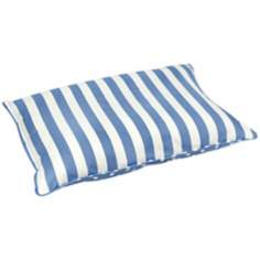 Happy Hounds Bosco Medium White and Blue Dog Bed