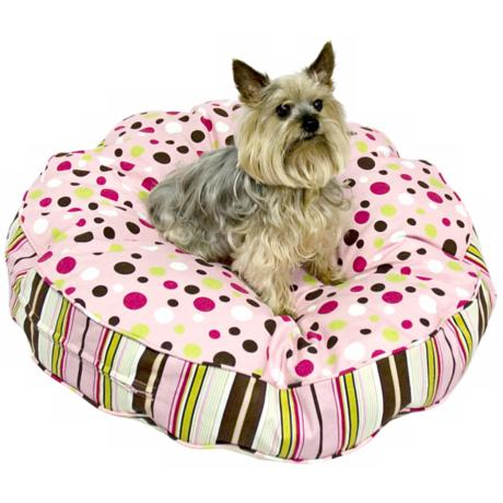 Happy Hounds Scout Deluxe Brown and Pink Medium Dog Bed