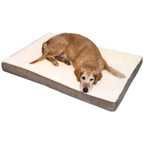 Happy Hounds Oscar Latte Large Orthopedic Dog Bed