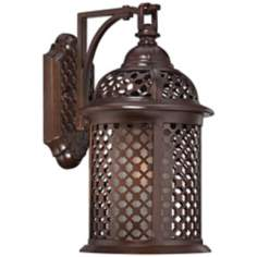 "Las Brisas 16"" High Bronze Outdoor Wall Light"