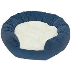 Happy Hounds Murphey Denim Large Donut Dog Bed