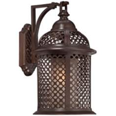 "Las Brisas 19"" High Bronze Outdoor Wall Light"