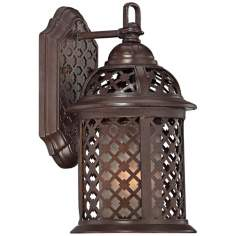 "Las Brisas 11 3/4"" High Bronze Outdoor Wall Light"