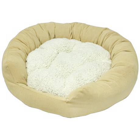 Happy Hounds Murphey Cream Medium Donut Dog Bed