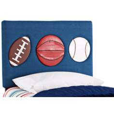 Kids 3-Sport Blue Denim Twin Headboard