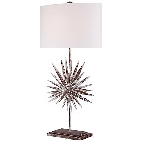 Weathered Palm Frond Table Lamp