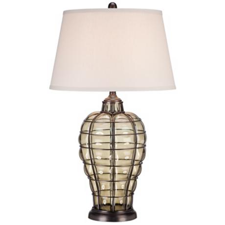Cage Blown Glass Table Lamp